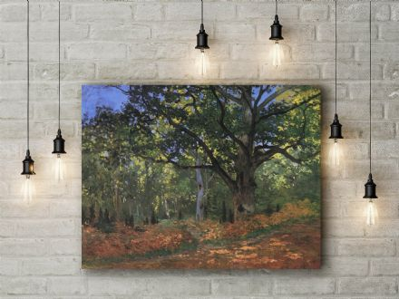 Claude Monet: Bodmer Oak Fontainbleau Forest. Fine Art Canvas.